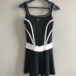 Nike Dri Fit Black white tennis dress